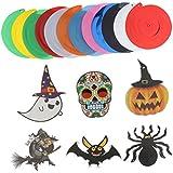 Perfk ハロウィン デコレーション ハンギング渦巻き カボチャ、クモ、バット、ウィザード、幽霊、死者の日 6個/セット