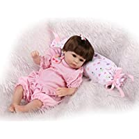 NPKDOLLシミュレーションRebornベビー人形ソフトSiliconeビニール18インチ45 cm Lifelike Vivid Boy Girl Toyレッドホワイト枕ウィッグ
