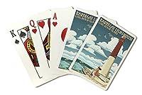 Long Beach Island、New Jersey–Barnegat Lighthouse ( Playingカードデッキ–52カードPokerサイズwithジョーカー)