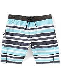 (ラウンドトゥリーアンドヨーク) Roundtree & Yorke メンズ 水着?ビーチウェア 海パン Multi Stripe 8' Swim Trunks [並行輸入品]