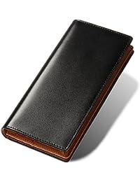 OKACHI 長財布 コードバン調 財布 メンズ 札入れ