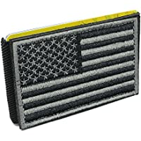 iCraft-94030W Slim Front Pocket USA Flag Tactical Patch Wallet-Grey and Black