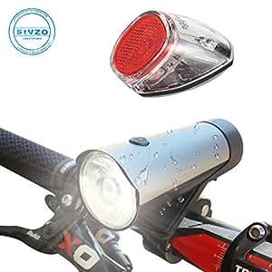 Coolife 自転車ライト USB充電式 高輝度LED 前照灯・自動点滅テールライト ソーラー 着脱簡単 アウトドア/キャンプ/登山/防犯/防災等に適用