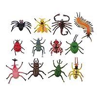 ノーブランド品 24個 昆虫フィギュア クモ 蜂モデル 庭園の飾り いたずらの道具 贈り物
