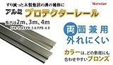 アルミプロテクターレール[2000mm]FPR-2.0両面兼用(後付けOK、敷居レール)