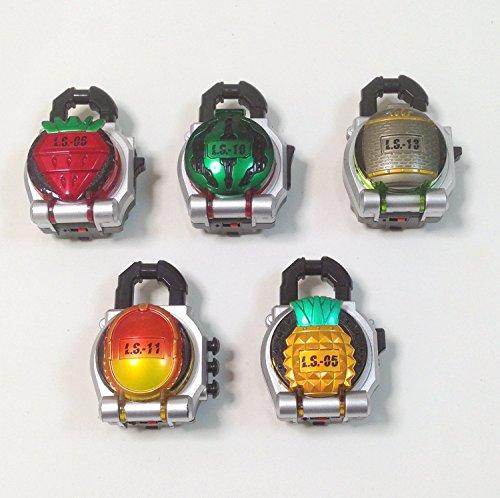 仮面ライダー鎧武(ガイム) DX ロックシード 5種セット (イチゴ/キウイ/スイカ/パイン/マンゴー)