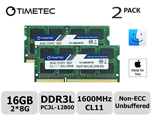 Hynix IC Apple 16 GB キット (2x8GB) DDR3L 1600 MHz PC3L 12800 SODIMM メモリのアップグレードの MacBook Pro13 インチ/15 インチ 2012 年半ば iMac 21.5 インチ 2012/初期/後期 2013 年後半 (16 GB キット (2x8GB))