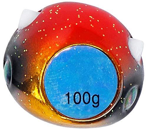 ダイワ(DAIWA) メタルジグ 紅牙 ベイラバーフリーTG α ヘッド 100g 黄金オレンジ