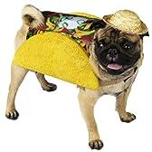犬 服 着ぐるみ コスプレ コスチューム 食べ物 タコス メキシカン タコベル TACOBELL サイズ:Petite (10lbs)