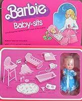 バービーBaby Sits w Baby Dollバービー人形ニーズ& Everything to Care for Baby Doll ( 1976Mattel Hawthorne )
