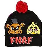 [バイオワールド]bioWorld Five Nights Faces FNAF Cuff Pom Beanie Fleece Hat 190371316869 [並行輸入品]