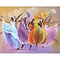 傘ダンサーシリーズdiyラウンドフルダイヤモンド絵画3dクロスステッチダイヤモンドモザイク刺繍キャンバス家の装飾ギフト40×50センチ