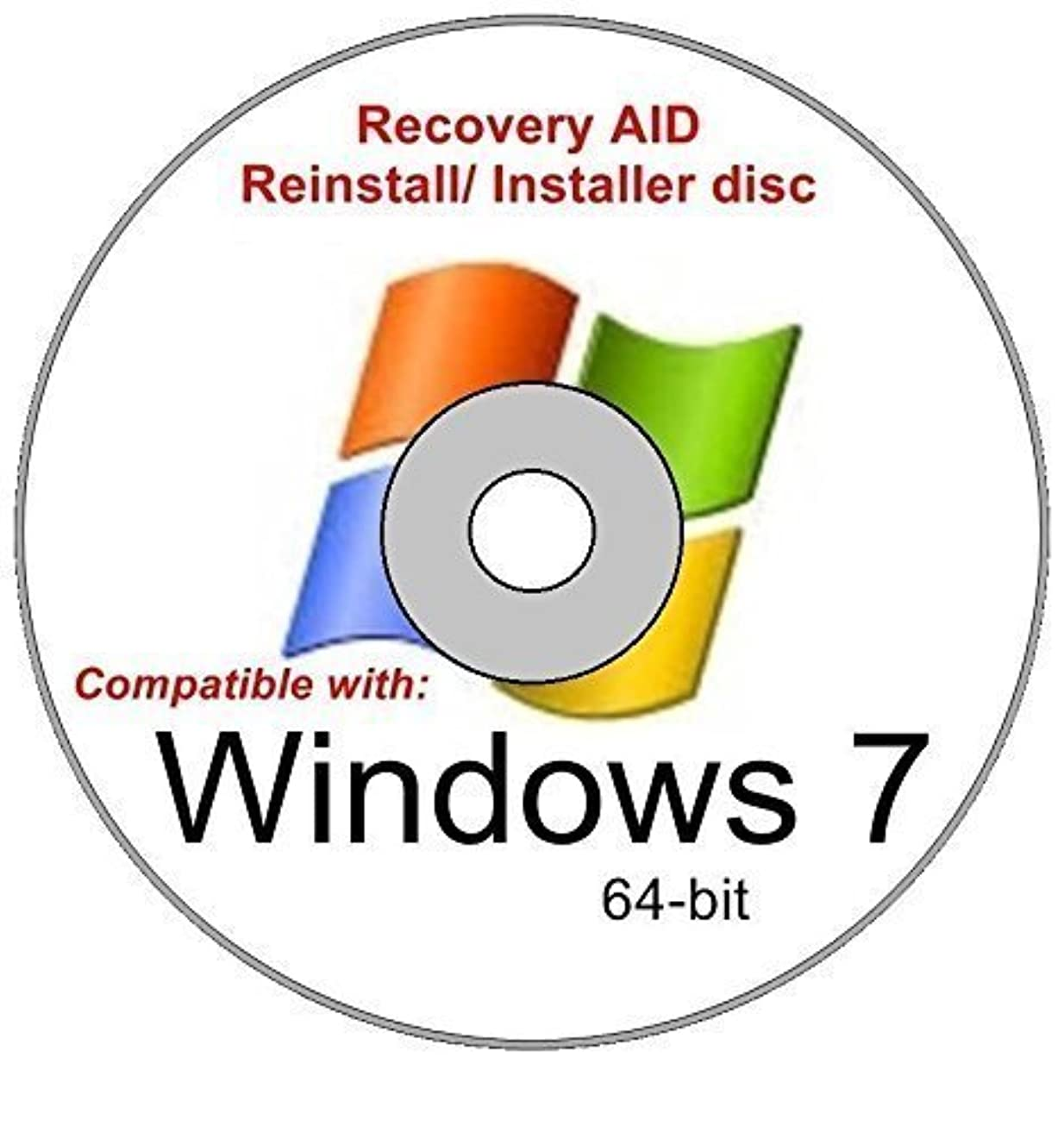 防止落ち着いてスケートWindows 7 Home Basic 64-bit New Reinstall Operating System Boot Disc - Repair Restore Recover DVD