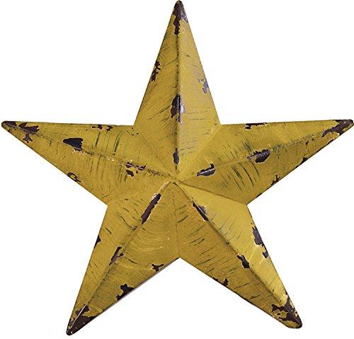 Gluck アンティーク調 ブリキ の 星の オーナメント バーンスター S 15.5cm イエロー