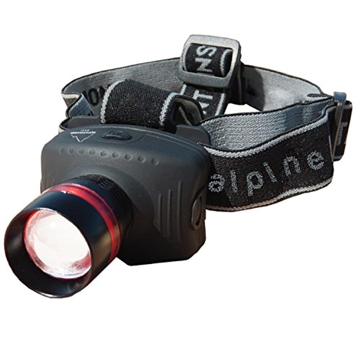心配する征服パラシュートAlpine Mountain Gear 130 Lumen Multi Focus Head Lamp, Black by Alpine
