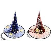 ハロウィーンの帽子のセット偽の髪の魔女の帽子ランダムカラー