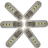 便利なUSB装着型!LEDライトUSB電球 1W 3LED 片面拡散型 6個入(USB型1W-昼白色)