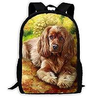 豪華な暖かいカラフルな犬8 リュックサック 男女バックパック 学生 デイパック 軽い リュック 大容量 カジュアル・ビジネス
