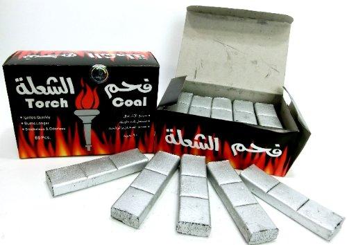 シーシャ炭 Torch シルバーチャコール(銀板型)1BOX:60ピース(水タバコ shisha ナルギレ charcoal)