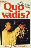 Quo vadis? Das Buch zur TV- Serie. Roman.