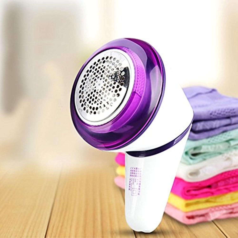 Soriace® 充電式 コードレス 毛玉取り器 毛玉ハンディクリーナー,ニット/カーディガン 90度回転 3枚刃 USB充電