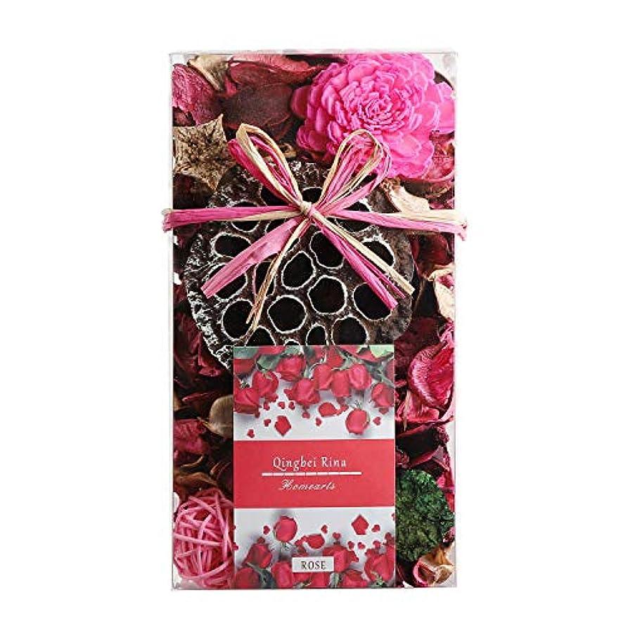 日記疑問を超えてランドマークQingbei Rina ポプリ ピンク 200g バラのポプリ ギフト 手作りの自然素材