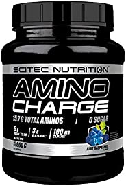 Scitec Nutrition BCAA Amino Charge Energy Boost - 100mg Caffeine & Zero Sugar - Blue Raspberry -