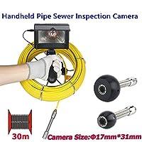4.3インチの手持ち式の管の点検カメラ17mmのデジタル産業内視鏡の管の下水道の点検のビデオカメラIP68は8pcs LEDライトが付いている下水管システム1000 TVLカメラ、30Mを防水します