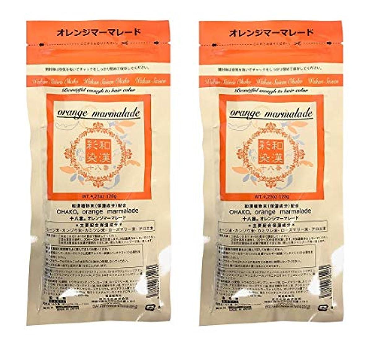 ミシン目繰り返し手順【2個セット】グランデックス 和漢彩染 十八番 120g オレンジママーレード