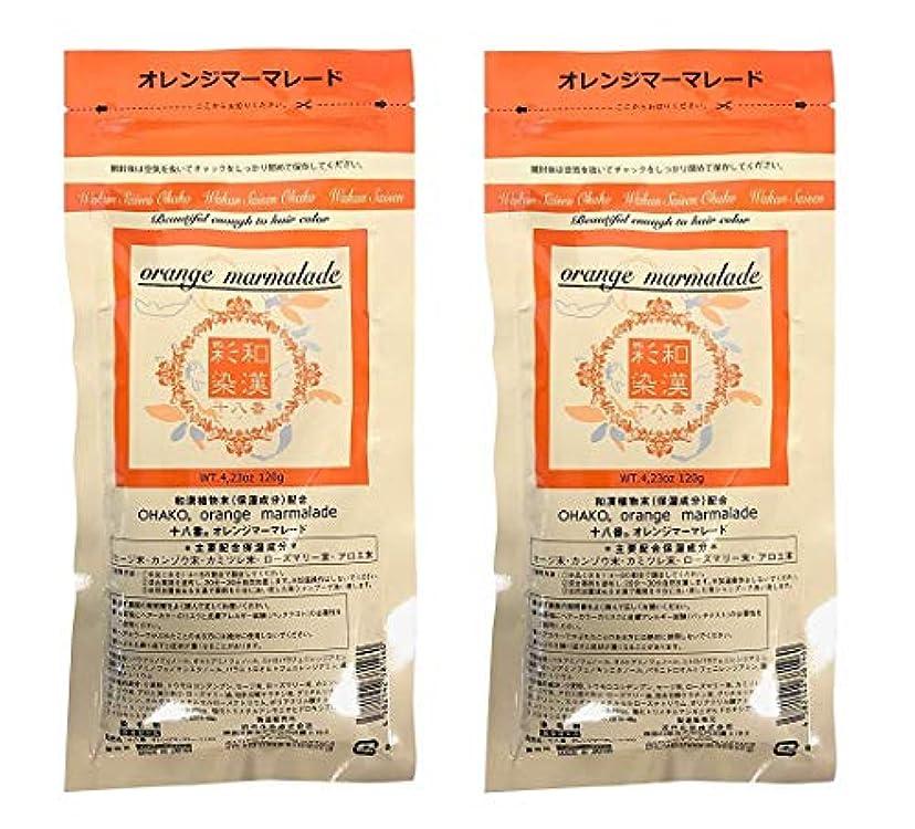 ネスト縞模様のピストン【2個セット】グランデックス 和漢彩染 十八番 120g オレンジママーレード