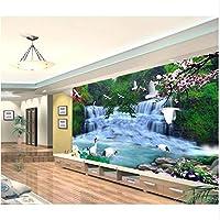 Mingld カスタム写真の壁紙壁のための3 Dの壁紙美しい滝風景壁画背景壁紙リビングルームの装飾-200X140Cm