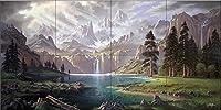 """セラミックタイル壁画–Symphony Of The sierras- byジョンRattenbury–キッチンBacksplash /バスルームシャワー 18 Tile Mural on 4 1/4"""" Tile 15-3216-2512-4C"""