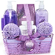 Christmas Gift - Home Spa Gift Baskets For Women - Bath and Body Gift Basket For Women and Men – Lavender and