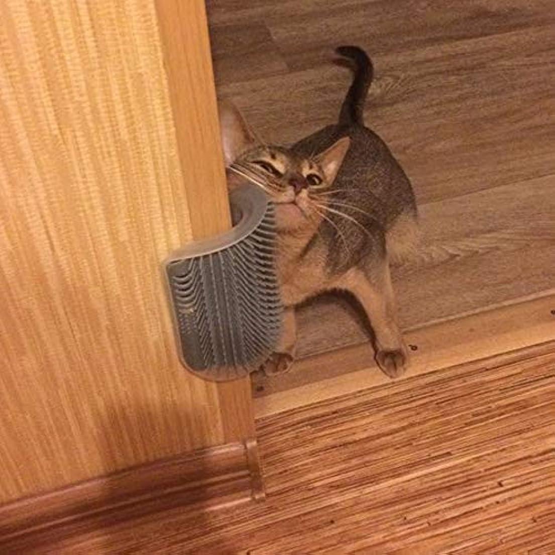 裸失われた巡礼者AJSHGD ペットくしリムーバブル猫コーナー引っかき擦るブラシペット脱毛マッサージくしペットグルーミングクリーニング用品 (色 : ライトグリーン, サイズ : M)