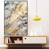 北欧の抽象的な大規模な黄金の油絵キャンバスポスターとプリントウォールポップアート写真用リビングルームDecoraction