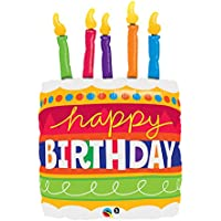Qualatex 35 Inch Supershape Foil Balloon - Birthday Cake & Candle