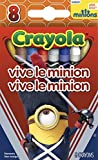 Crayola Minions The Movie High Quality Premium Crayons 8 Count (Vive Le Minion) by Crayola