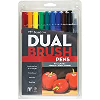 Tombow Dual Brush Pens 10/Pkg-Primary (並行輸入品)