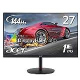 Acer 27インチHDR対応ゲーミング液晶モニター XV272Pbmiiprzx IPS 非光沢 1920x1080 フルHD 144Hz 400cd 1ms HDR HDMI