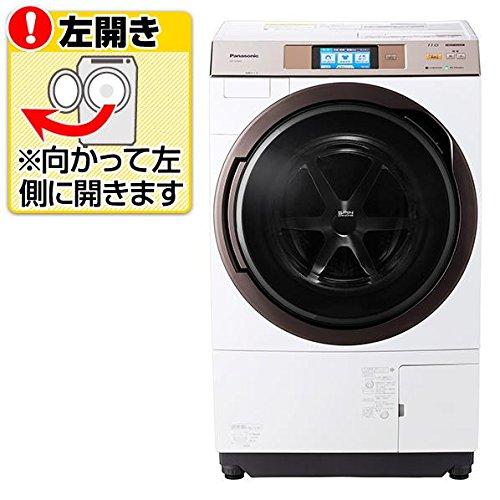 パナソニック 【左開き】11.0kgドラム式洗濯乾燥機 KuaL クリスタルホワイト NA-VX5E4L-W