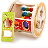 BH JP 筒入り積み木 立体パズル カラー 木製 木のおもちゃ 想像力を育てる 幾何認識 ベビー教育玩具 知育 おもちゃ