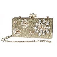 Pulama 3d花柄ビーズイブニングハンドバッグフォーマルカクテルパーティーレディースパールクラッチ財布