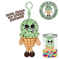 Whiffer Sniffers May B。Minty Mint Ice Cream香りつきバックパッククリップ