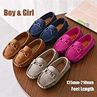 Kids Casual Shoes Children Loafers Girls&Boys Boat Shoes Single Shoes(Blue,22)