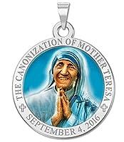 Canonizationのマザー・テレサCommemorative宗教メダルの色 シルバー