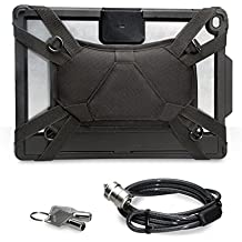 CTA Digital Security Carrying Case with Kickstand and Anti-Theft Cable for iPad Pro 9.7 and iPad Air (PAD-SCCK9) Black Black