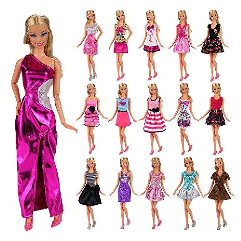 Barwa」リカちゃん ドレス バービー 服 バービー着せ替え プリンセスドレス 12枚セット