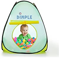 Children's Triangle Pop Up Play Tent with Set of 50 Balls Perfect for Indoor & Outdoor Easy Setup Safe and Sturdy Great for Kids & Toddlers by Dimple [並行輸入品]