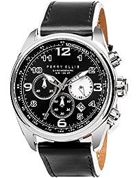 [ペリー・エリス]Perry Ellis 腕時計 GT クォーツ 44 mmケース 本革バンド 01002-01 メンズ 【正規輸入品】