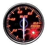 BLITZ(ブリッツ) RACING METER SD(レーシングメーターSD) 丸型アナログメーター φ52 PRESS METER RED 19594